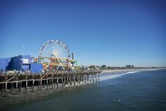Santa Monica Pier Stockfotos