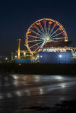 Santa Monica Pier 7. Vertical image of the Pacific Wheel, recently sold at auction, at the Santa Monica Pier amusement park Royalty Free Stock Image