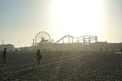 Santa Monica Pier foto de stock royalty free