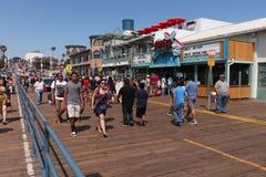 Santa Monica Pier Photos libres de droits