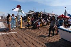 Santa Monica Pier Images libres de droits