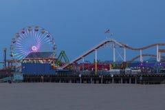 Santa Monica Pier Amusement Park Lizenzfreie Stockbilder