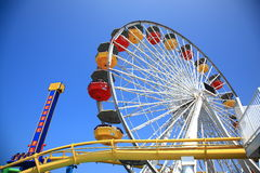 Santa Monica Pier Amusement Park Stock Images