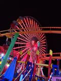 Santa Monica Pier Amusement Park fotos de archivo