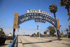 Santa Monica Pier Arch Royaltyfria Bilder