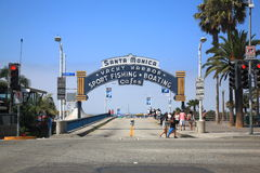 Santa Monica Pier Arch Stock Photo