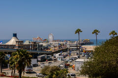 Santa Monica Pier. Santa Monica beach view from pier in California USA Stock Images