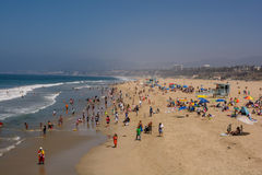 Santa Monica Pier. Santa Monica beach view from pier in California USA Stock Photography