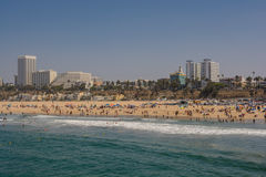Santa Monica Pier. Santa Monica beach view from pier in California USA Stock Image