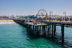 Santa Monica Pier. Santa Monica beach view from pier in California USA Royalty Free Stock Photo