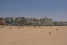 Santa Monica Pier. Santa Monica beach view from pier in California USA Royalty Free Stock Photography