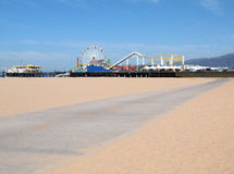 Santa Monica Pier Bike Path. On a beautiful summer morning Stock Image