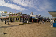 Santa Monica Pier Boardwalk Photo libre de droits