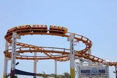 Santa Monica Pier célèbre en Californie LES Etats-Unis Photo stock