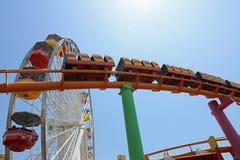 Santa Monica Pier célèbre en Californie LES Etats-Unis Photographie stock libre de droits