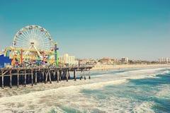 Santa Monica Pier, Californië, de V.S. stock afbeelding