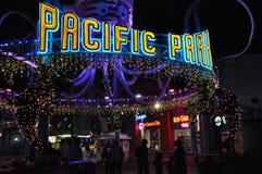 Santa Monica Pier in California. SANTA MONICA, CALIFORNIA - DECEMBER 7: Santa Monica Pier in Los Angeles, California as seen on December 7, 2012. The ferris Stock Images