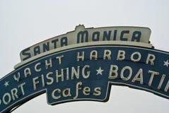 Santa Monica Pier, California. Santa Monica Pier sign, Santa Monica, California stock images