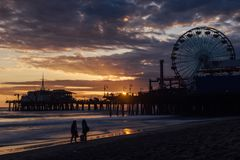 The Santa Monica Pier, California royalty free stock images