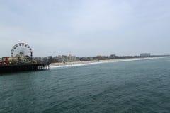 Santa Monica pier in California Stock Image