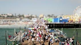 Santa Monica Pier - décalage/bourdonnement d'inclinaison banque de vidéos