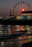 Santa Monica Pier Dusk 2 Royalty Free Stock Photography
