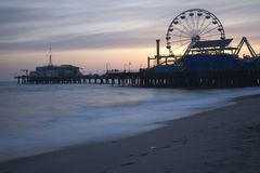 Santa Monica Pier Dusk 5 Royalty Free Stock Photo