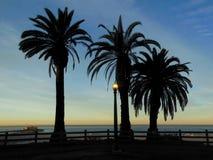 Santa Monica Pier. Early morning walk in Santa Monica California with the Santa Monica Pier in the background Stock Image