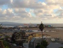 Santa Monica Pier ed oceano Fotografia Stock