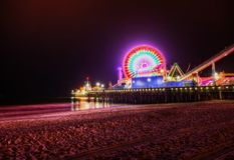 Santa Monica Pier EUA fotografia de stock royalty free