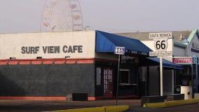 Santa Monica Pier, extremo de Route 66, Los Ángeles (ciudades) metrajes