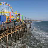 Santa Monica Pier, Los Angeles, Californië, de V.S. Stock Afbeeldingen