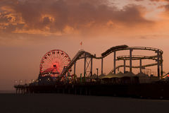 Santa Monica pier Stock Images