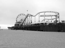 Santa Monica Pier in Los Angeles Royalty Free Stock Images