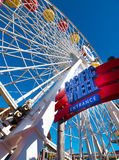 Santa Monica Pier Pacific Park Amusement Rides Image stock