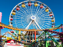 Santa Monica Pier Pacific Park Amusement Rides Imagem de Stock Royalty Free