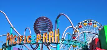 Santa Monica Pier - Pacific Park. Santa Monica Pier Pacific Park Ferris Wheel in Santa Monica, Los Angeles California Stock Image