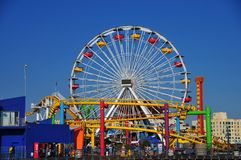 Santa Monica Pier - Pacific Park Ferris Wheel. Santa Monica Pier Pacific Park Ferris Wheel in Santa Monica, Los Angeles California Royalty Free Stock Images