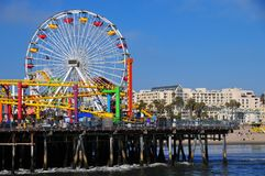Santa Monica Pier - Pacific Park Ferris Wheel. Santa Monica Pier Pacific Park Ferris Wheel in Santa Monica, Los Angeles California Stock Photo