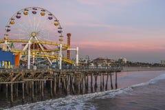 Santa Monica pier Pacific Wheel, Santa Monica. Royalty Free Stock Photography
