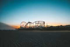 Santa Monica Pier fotografia de stock