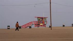 Santa Monica Pier, praia andando, Los Angeles (cidades) video estoque