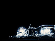 Santa Monica Pier. The principal tourist attraction of Saint Monica, besides the beaches, it is the dock  Saint Monica Pier, built in the 1909. The dock is Royalty Free Stock Images