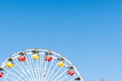 Santa Monica Pier rides and attractions Stock Photography