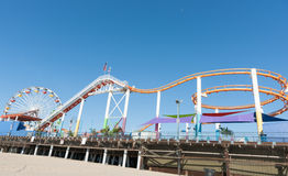 Santa Monica Pier rides and attractions Stock Image