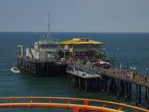 Santa Monica pier seen from Pacific Park. Santa Monica California pier seen from the Pacific Park roller coaster Royalty Free Stock Image