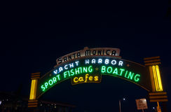 Santa Monica Pier sign Royalty Free Stock Photography