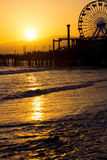 Santa Monica Pier at sunset Royalty Free Stock Photography