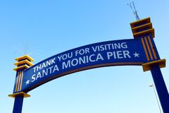Santa Monica Pier Thank you for Visiting Sign, Santa Monica – Los Angeles