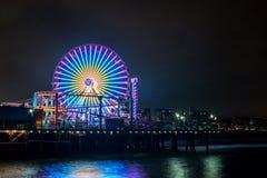 Santa Monica Pier. View from the beach, Santa Monica Pier, california, 6-16-2016 Stock Photo